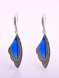 AS 925 Silver Jewelry  Elegant blue corundum Earrings