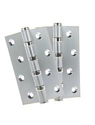 100 milímetros × 75 milímetros Mute puro cobre aço inoxidável dobradiça da porta - 2pcs