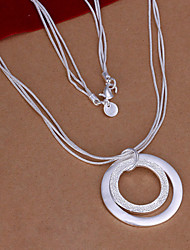 Vilin Women's Silver Double Circle Necklace