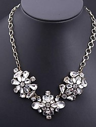 Women's Transparent Crystal Glass Necklace