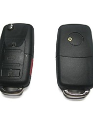 3 Plus 1-Button Remote Flip Key Case for Volkswagen VW