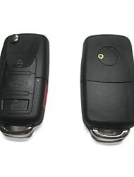 3 Плюс 1-кнопочным пультом дистанционного Флип ключ чехол для Volkswagen VW