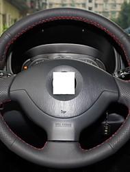 XuJi ™ Black Genuine Leather Steering Wheel Cover for Suzuki Jimny