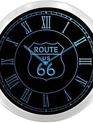 nc0702 US Route 66 Neon Sign Orologio da parete a LED