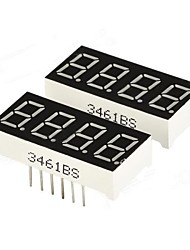 "0.36 ""4 dígitos Digital Display 7 segmentos - preto (2 PCS)"