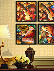 Instrument Abstract Decoration Framed Canvas Print Set of  4