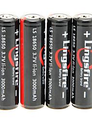 Lingsfire 3000mAh батареи 18650 (4шт) с Перегрузка защиты