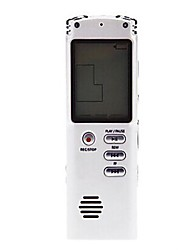 T-60 Portable 4GB LCD Display Stereo Recording Digital Voice Recorder White