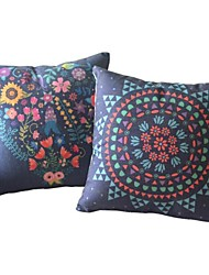 Set of 2 Country Oriental Floral Luxuriant Pillow Covers