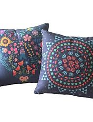 Conjunto de 2 Covers País oriental floral luxuriante Travesseiro