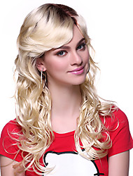 100% KANEKALON Capless Long Wavy Synthetic Wig Side Band