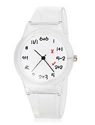 Детская Математика Pattern Прозрачный Резиновая лента Кварцевые наручные часы