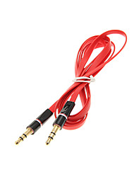 1.2M 4FT Noodle Flat Auxiliary Aux Audio Cable 3.5mm Jack Male to Male Cord