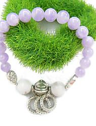 Crystal Jade Korean fashion bracelet with white pine
