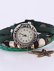 Mulheres Quartz Banda pulseira Verde