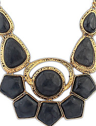 Angelasex Trend Punk Gemstone Necklace (Black)