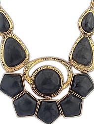 angelasex do punk tendência colar de pedras preciosas (preto)
