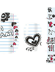 28PCS Colorful Heart Design Nail Art Stickers