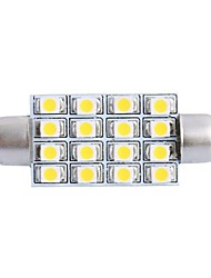 42mm 4W 200LM 3000K 16x3528 SMD Warm White LED for Car Reading/License Plate/Door Lamp (DC12V, 1Pcs)