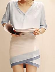 ORG Женская Тонкий Dresskorean Версия платье