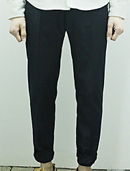 Men's Solid Casual Chinos,Others Gray