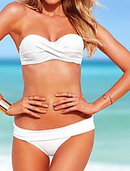Moda feminina Nylon e Spandex Sexy Praia Swimwear Bikini Set