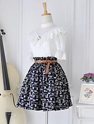 Capas de la vendimia de las mujeres falda de cintura alta