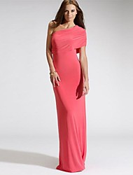 RICHCOCO Women's Single Shoulder Wrapped Chest Over Hip Floor-length Dress in Top Quality