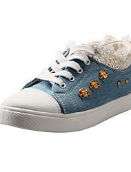 Scarpe Donna - Sneakers alla moda - Casual - Comoda / Punta arrotondata - Piatto - Di corda - Blu / Blu scuro