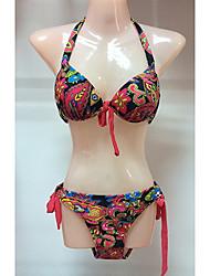 Mujeres Ailin Sexy Floral Print Tie Bikinis