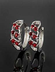 Bodas de plata latón plateado con Pendientes Circonita Niñas (más colores)