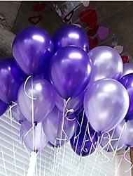 Boda 100pcs/lot Latex Helio Inflable engrosamiento de la perla o globo de la fiesta de cumpleaños