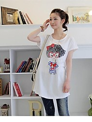 Summer Short Sleeve Cotton Comfortable Basic T-shirt Long Design Plus Size Maternity Top