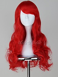 The Little Mermaid Ariel Long Wavy Red Anime Cosplay Wig