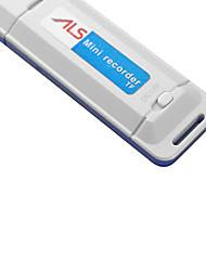 Мини-USB U-Диск Flash Drive Цифровой аудио Диктофон Диктофон (белый)