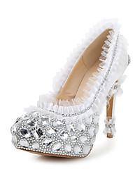 Women's Wedding Shoes Heels/Round Toe Heels Wedding/Party & Evening White