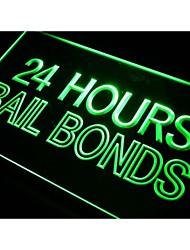 obbligazioni cauzione 24 ore di luce al neon segno