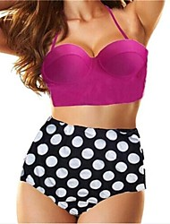 Roxo Swim Suit Womens Push up Top & Polka Dot alta Waisted inferior