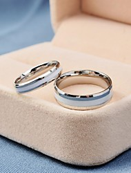 Korea Style Fashion White Titanium Steel Couple Rings