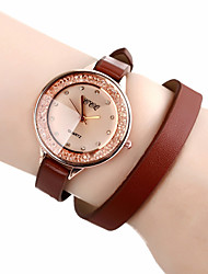 CCQ PU Leather Women Dress Watch com strass-8