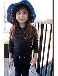 Mädchen Rib Neck Lace Pullover