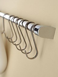 Contemporary  Bathroom and Kitchen Stainless Steel 5 Hooks