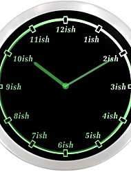 nc0922 ISH Late Tardy Time Around Kind of Almost Gag Gift Neon Sign LED Wall Clock