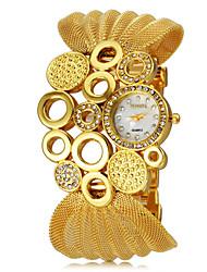 Mulheres Relógio de Moda Quartz Lega Banda Brilhante Preta / Prata / Marrom marca-