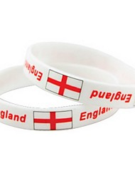 England Flag Pattern 2014 World Cup Silicone Wrist Band