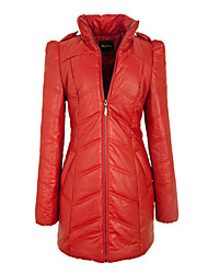 Manteau de cuir Honru Automne New Style PU épais vers le bas