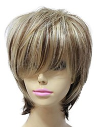 Capless Synthetic Short Straight Mixed Color Sexy Hair Wigs