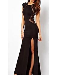 JINYI Lace Short Sleeve Bodycon Dress