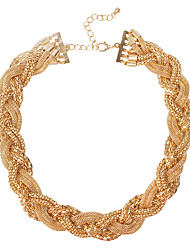 JANE STONE Fashion Vintage Beads Necklace(Gold)