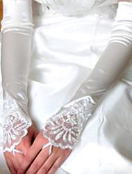Luva Luvas de Noiva/Luvas de Festa Até o Cotovelo Sem Dedos Cetim